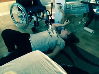 Madeleine har fallit till golvet